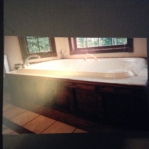 Custom jacuzzi tub installation.